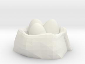 Dragon Egg Nest No.2 in White Strong & Flexible