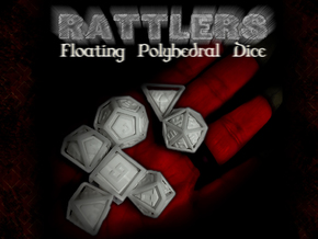 RATTLERS - Floating Polyhedral Dice Set in White Natural Versatile Plastic