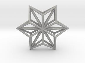 Origami STAR Structure, pendant in Aluminum