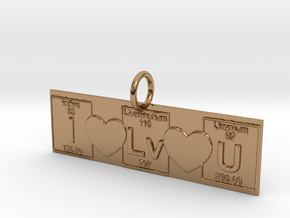 I love You! Geek Love in Polished Brass
