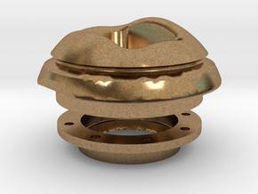 Kugelblende 100 incl. Widerlager in Natural Brass