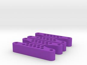 Front Slider - 3D X4 in Purple Processed Versatile Plastic