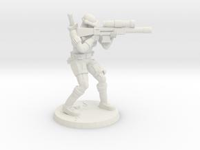 38mm SpecFor Sniper 7 in White Natural Versatile Plastic