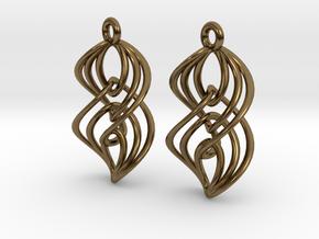 Interlocking Twisted Ellipses in Polished Bronze (Interlocking Parts)