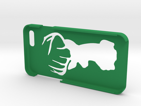 "Iphone 6 ""Deer"" in Green Strong & Flexible Polished"
