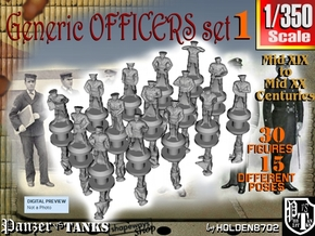 1-350 Generic Naval Officers Set 1 in Smoothest Fine Detail Plastic