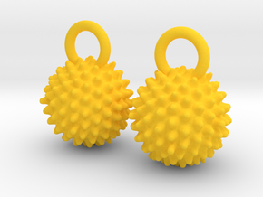Ragweed Pollen Earrings - Nature Jewelry in Yellow Processed Versatile Plastic