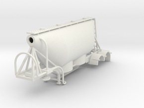000580 Dry Bulk trailer HO in White Natural Versatile Plastic: 1:87 - HO