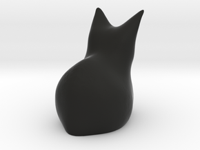 Cat'st'ue in Black Natural Versatile Plastic