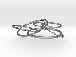 WOW5 Coaster Metal in Polished Silver (Interlocking Parts)