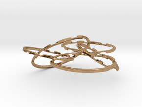 WOW5 Coaster Metal in Interlocking Polished Brass