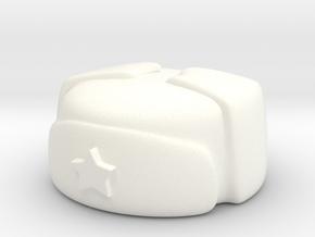 Russian Winter Cap in White Processed Versatile Plastic