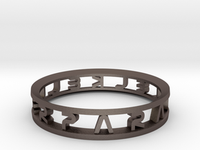 "Parallelkeller Ring ""Round'N'Round"" Intense in Stainless Steel"