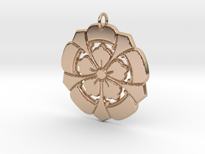 Matsuya Crests: Floral Pendant in 14k Rose Gold