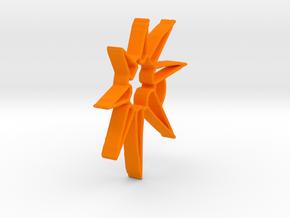 Star Pendant in Orange Processed Versatile Plastic