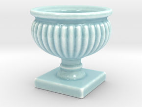 Planter Urn Hollow Form 2017-0010 Porcelain in Gloss Celadon Green Porcelain: 1:12