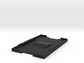 BADGE HOLDER  or ID Card Carrier in Black Natural Versatile Plastic