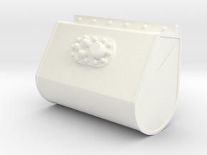 Teardrop in White Processed Versatile Plastic