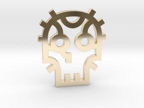 Skull / Cráneo / Calavera in 14K Yellow Gold