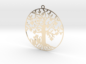 Cats Under A Tree  in 14K Yellow Gold