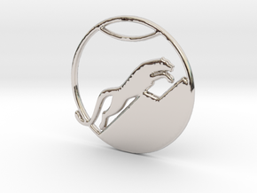 The Snow Leopard in Rhodium Plated Brass