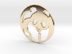The Panda Pendant in 14k Gold Plated Brass