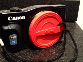 Canon Cap - 58mm (with clip) in Red Processed Versatile Plastic