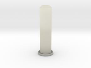 Barrel Plug 2/2 b in Transparent Acrylic