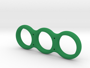 Simple Fidget Spinner w/ holes in Green Strong & Flexible Polished