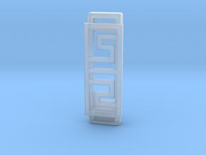 Box Pattern Clip For Fitbit Flex2- Plastic  in Smooth Fine Detail Plastic