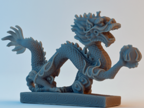 Chinese Dragon in Frosted Ultra Detail