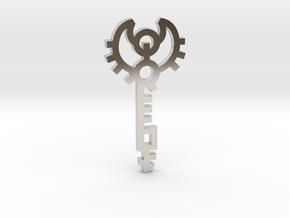 Key / Llave in Rhodium Plated Brass