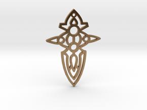 Cross / Cruz in Natural Brass