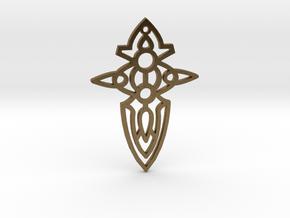 Cross / Cruz in Natural Bronze