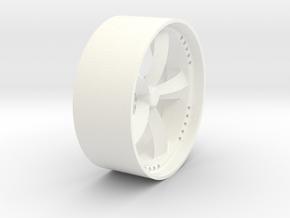 "Star Force Wheel 23"" in White Processed Versatile Plastic"