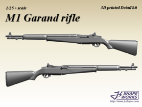 1/25 M1 Garand Rifle (4 set) in Frosted Extreme Detail