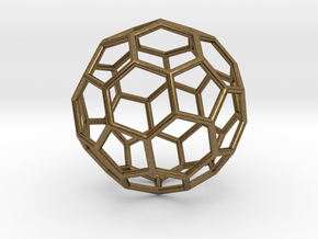 0624 Fullerene c60-ih - Model for the BFI (Bulk) in Natural Bronze