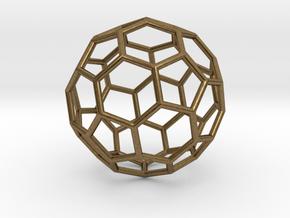 0624 Fullerene c60-ih - Model for the BFI (Bulk) in Raw Bronze