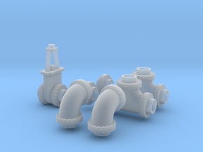 1:87 24 inch Pipe collection in Smooth Fine Detail Plastic