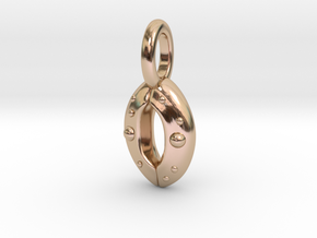 Stoma Pendant - Science Jewelry in 14k Rose Gold Plated Brass