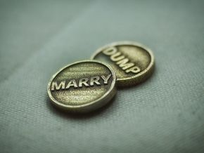Coin: Marry or Dump in Polished Bronzed Silver Steel