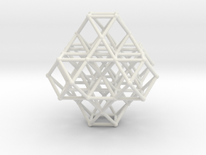 Vector Equilibrium Cuboctahedrons Grid 8Octa 7VE in White Natural Versatile Plastic