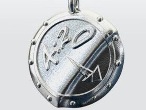 420 PENDANT in Polished Silver