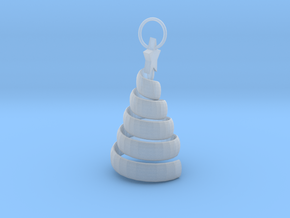 Swirl Tree Pendant in Smooth Fine Detail Plastic