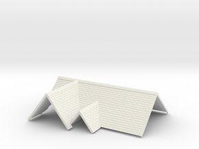 Roof for House #3R in White Natural Versatile Plastic