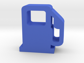 Game Piece, Gas Pump in Blue Processed Versatile Plastic