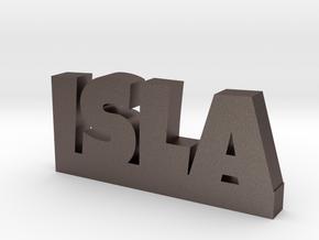 ISLA Lucky in Polished Bronzed Silver Steel
