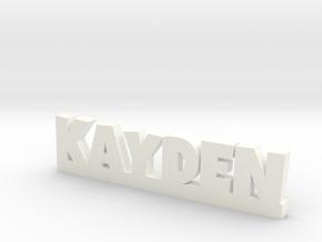 KAYDEN Lucky in White Processed Versatile Plastic