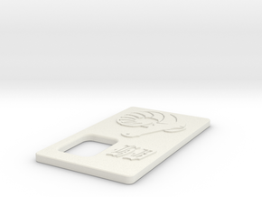Talymod V1 Hashem Cover in White Natural Versatile Plastic