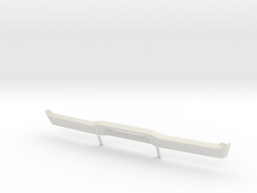 Dodge Charger 1968 Rear Bumper 1/10 in White Natural Versatile Plastic